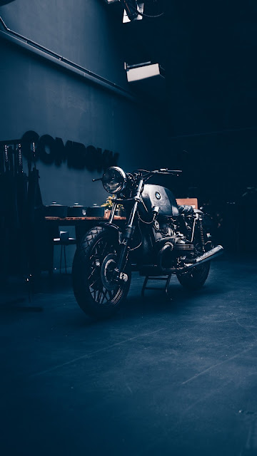 Moto Antiga, BMW, Garagem, Vintage