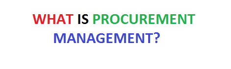 What is procurement management