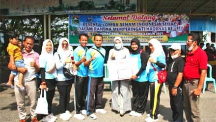 Lomba Senam Indonesia Sehat di GOR Batu Batupang Koto Baru Ditutup
