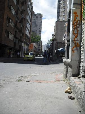 A Bogotá street replete with faecal matter