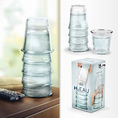 creative water glasses