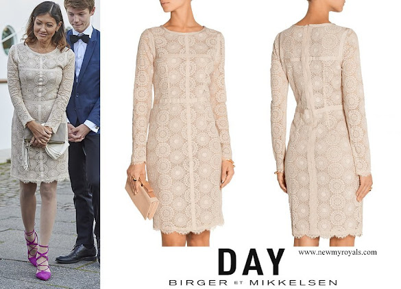 Countess Alexandra wore DAY Birger et Mikkelsen Veneer embroidered tulle dress