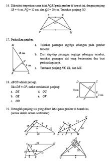 Pembahasan Uji Kompetensi 4 Halaman 266 Matematika Kelas 9 Kesebangunan dan kongkruen
