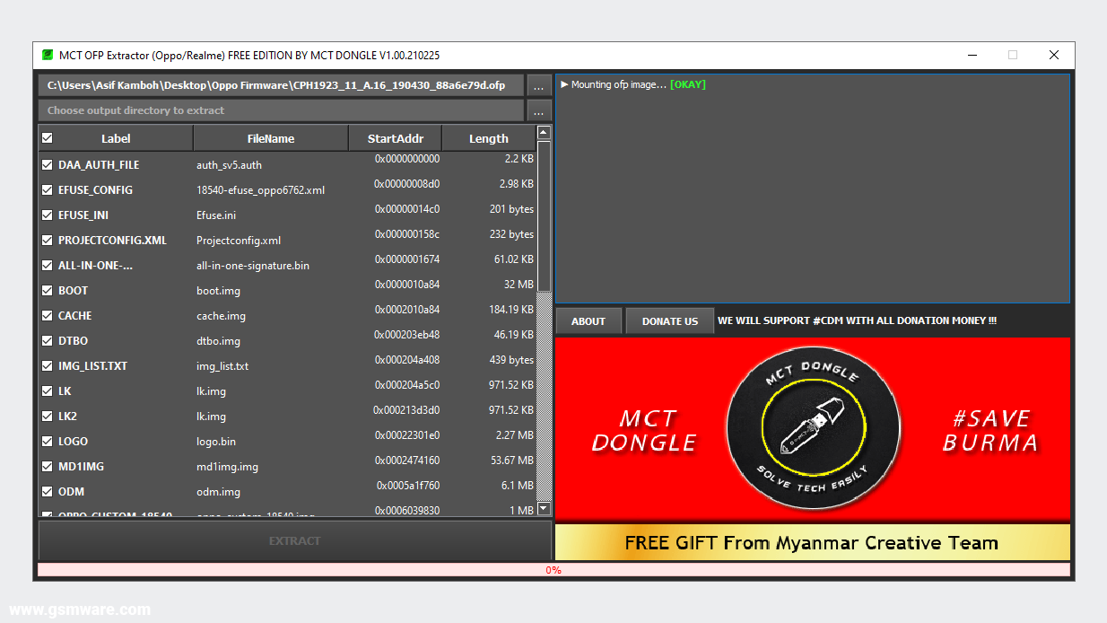 MCT OFP Extractor (Oppo/Realme) Free Edition By MCT Dongle V1.00.210225