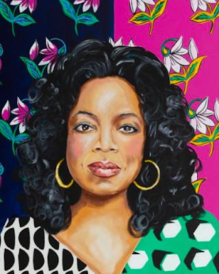Pop art portrait of Oprah Winfrey by Ashley Longshore
