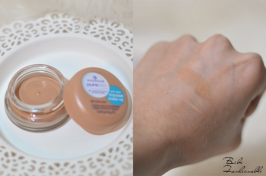 essence anti spot mousse make up offen Swatches