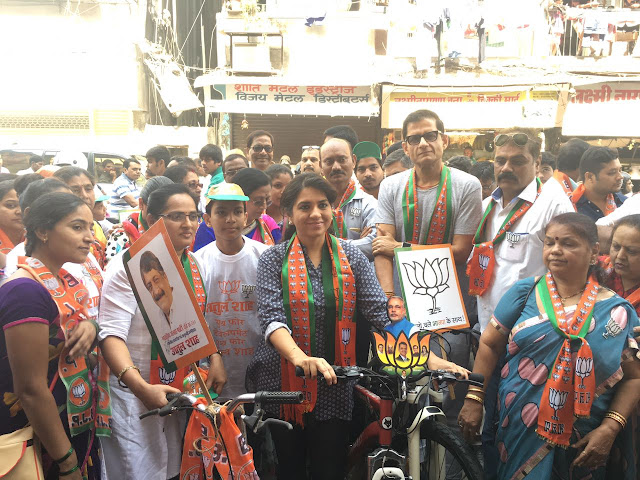Shaina NC and Atul Shah Kickstarts BJP's South Mumbai's Municipal Election Campaign an Environment Friendly Campaign