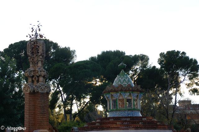 Particolare del Pavillon Guell altra opera di Gaudì
