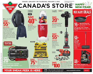 Canadian Tire Flyer Red Alert Deals valid January 9 - 15, 2021