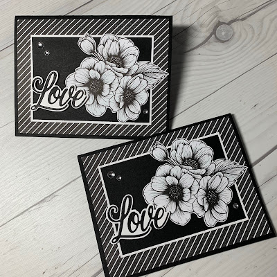 Floral Valentine Card using True Love Designer Series Paper from Stampin' Up!