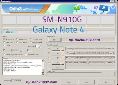 سوفت وير هاتف Galaxy Note 4 موديل SM-N910G روم الاصلاح 4 ملفات تحميل مباشر