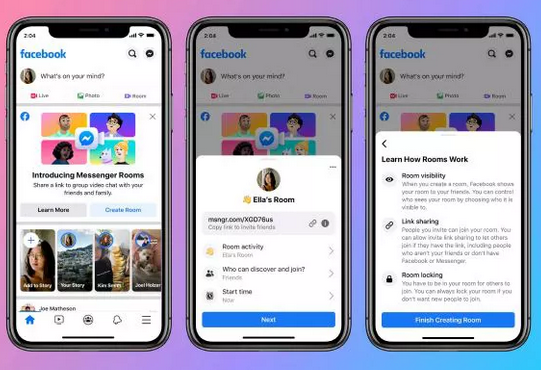 Messenger Rooms Now Live, Make Free Video Calls to up to 50 People