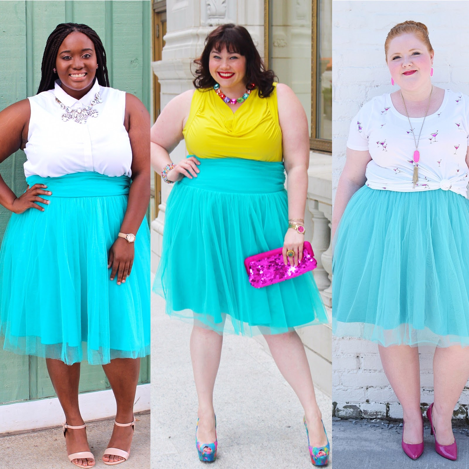 Plus Size Bloggers Tamera Hughes, Amber from Style Plus Curves, and Liz from With Wonder and Whimsy