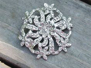 Marcasite brooch by Hollywood