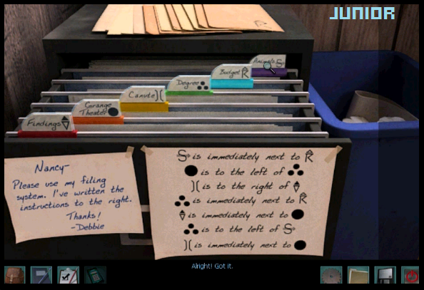 Filing cabinet  Nancy Drew  Trail of the Twister  Diary