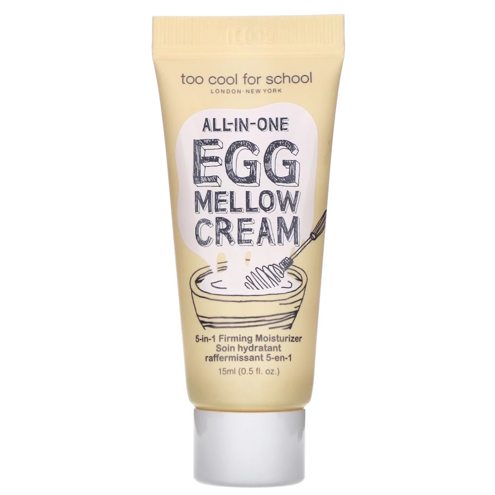 Too Cool for School, All-in-One, Egg Mellow Cream, 5 -in-1 Firming Moisturizer, 0.5 fl oz (15 ml)
