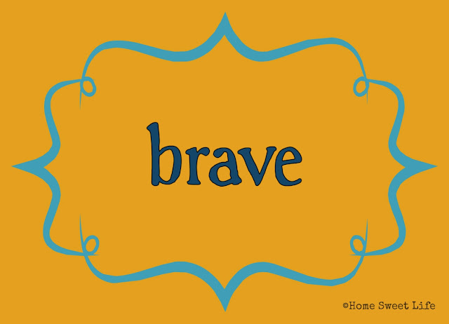 Christian living, 31 day writing challenge, brave