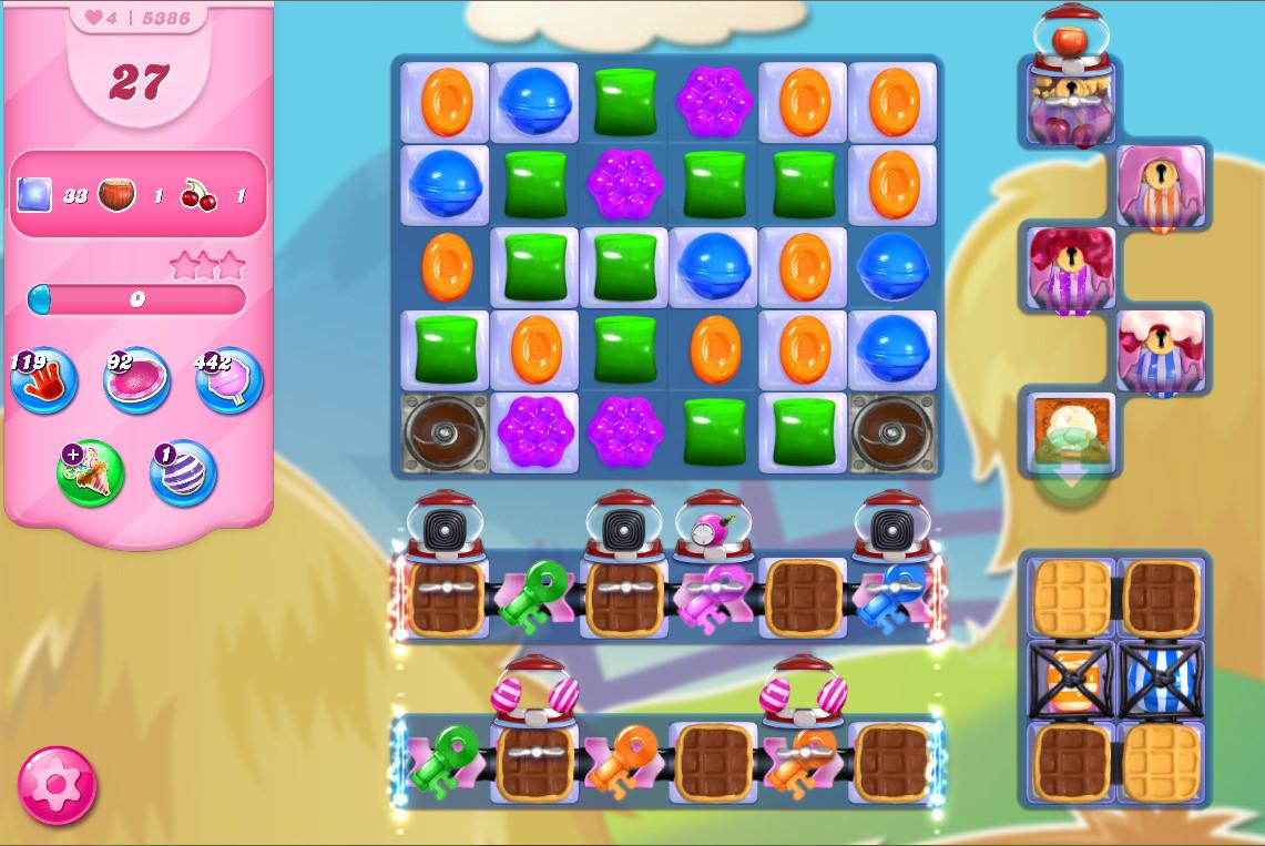 Candy Crush Saga level 5386
