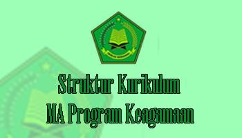 Struktur Kurikulum MA Program Keagamaan
