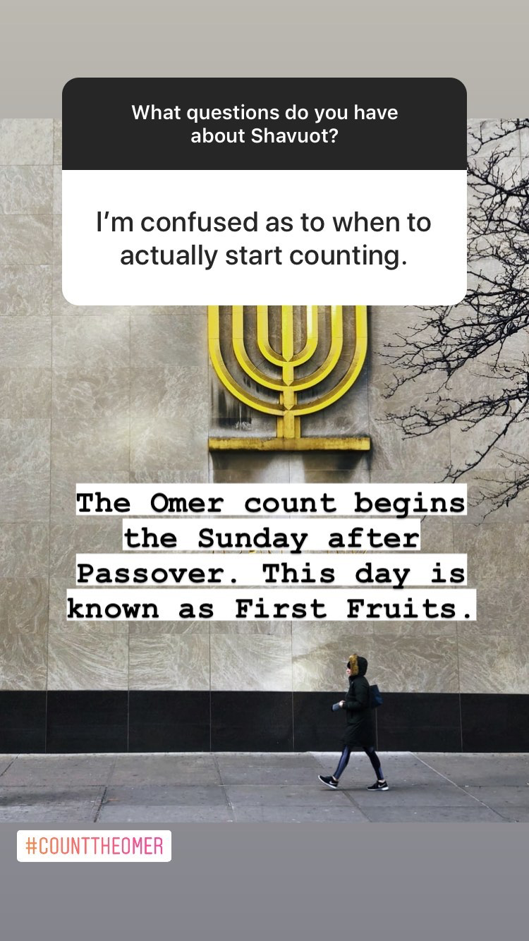 When does the omer counter start? | Land of Honey