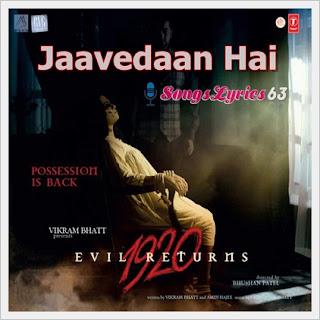 Jaavedaan Hai Song Lyrics 1920 Evil Returns [2012]