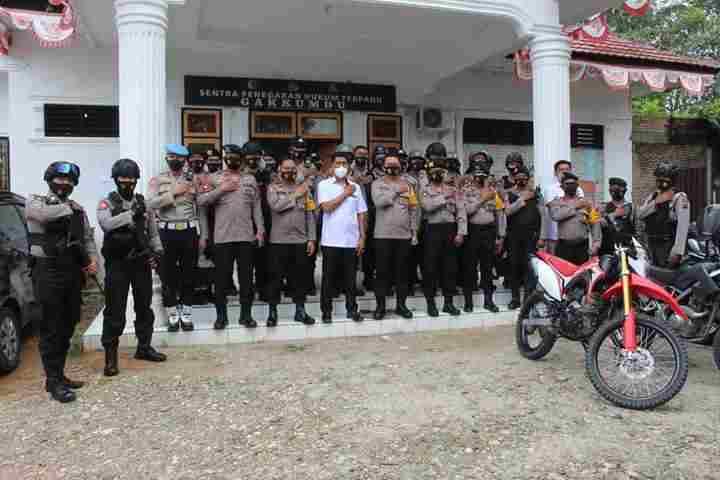 Kapolres Labuhannatu Mengecek  Kesiapan KPU Labuhanbatu dan Labuhanbatu Selatan Untuk menggelar PSU