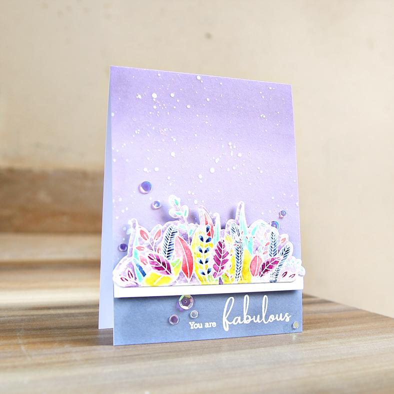 Pinkfresh Studio Indigo Hills 2 Papers and Lush Greenery Stamp Set | Erum Tasneem | @pr0digy0