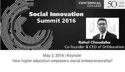 Keynote on international higher education and social entrepreneurship by Rahul Choudaha DrEducation