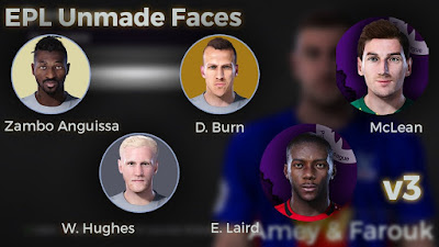 PES 2021 EPL Unmade Faces V3 by Epic Faces