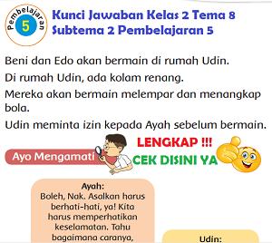 Kunci Jawaban Kelas 2 Tema 8 Subtema 2 Pembelajaran 5 www.simplenews.me
