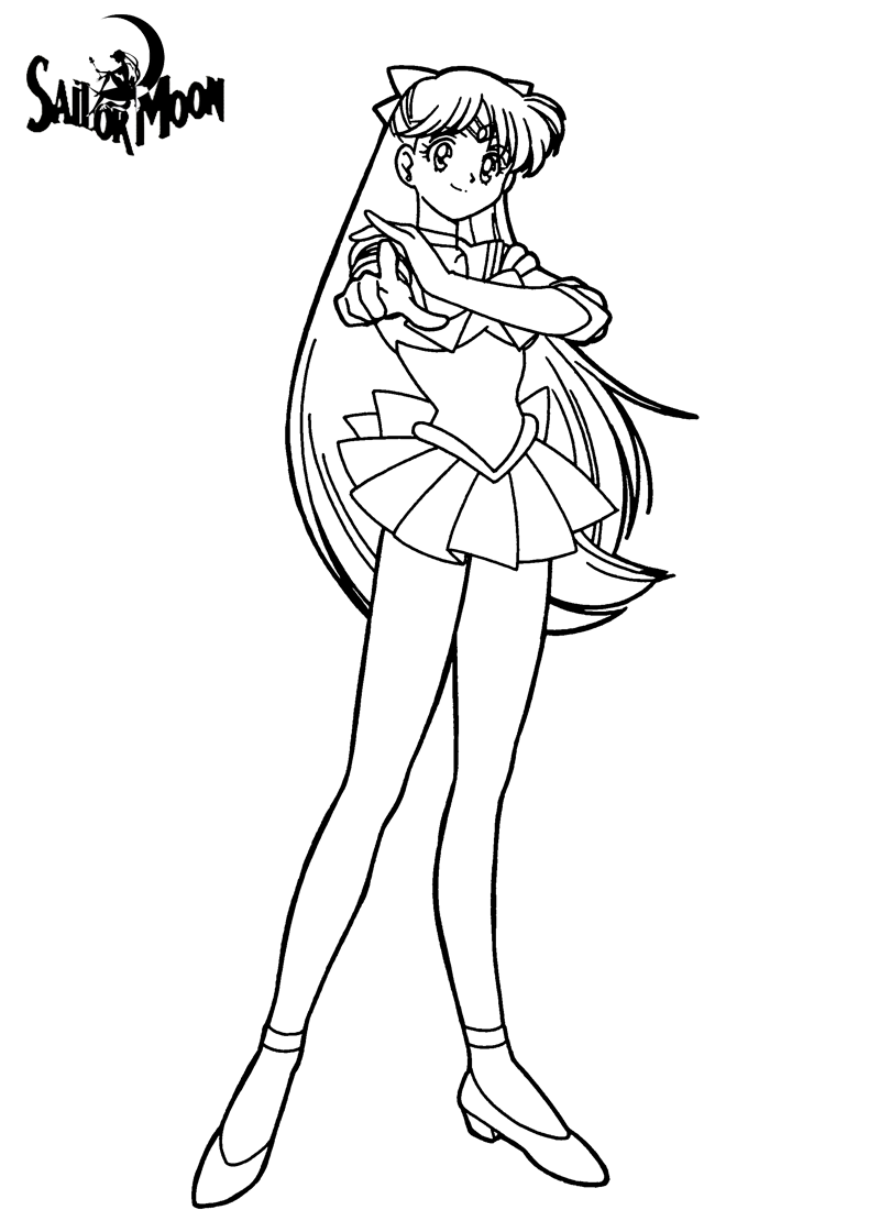 Sailor moon coloring pages tomas tanaka for Sailor venus coloring pages