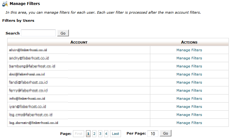 halaman user level filtering - faberhost.com