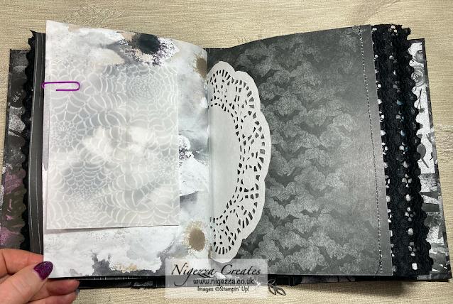 Vellum Cobweb Bag For Gothic Journal