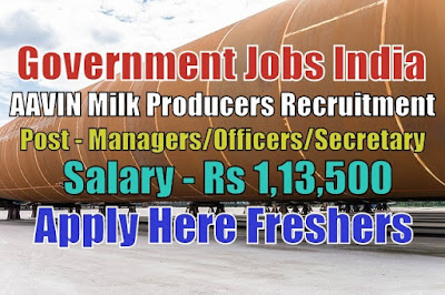 AAVIN Milk Producers Recruitment 2020