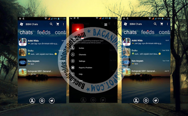 download BBM Mod Thema WindowsPhone Transparent Apk Terbaru 2.13.1.14