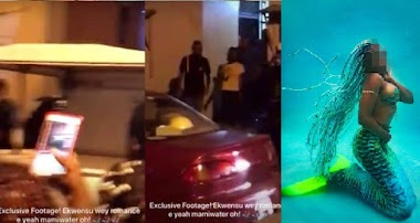 Student allegedly turns into a mermaid inside Unilag's Fagunwa hall (video)