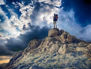Traveller on hill