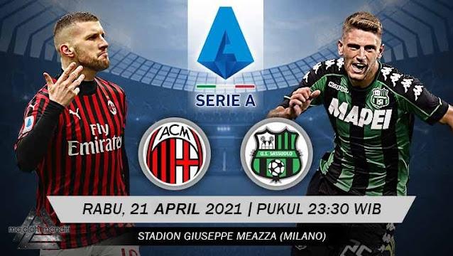 Prediksi AC Milan Vs Sassuolo