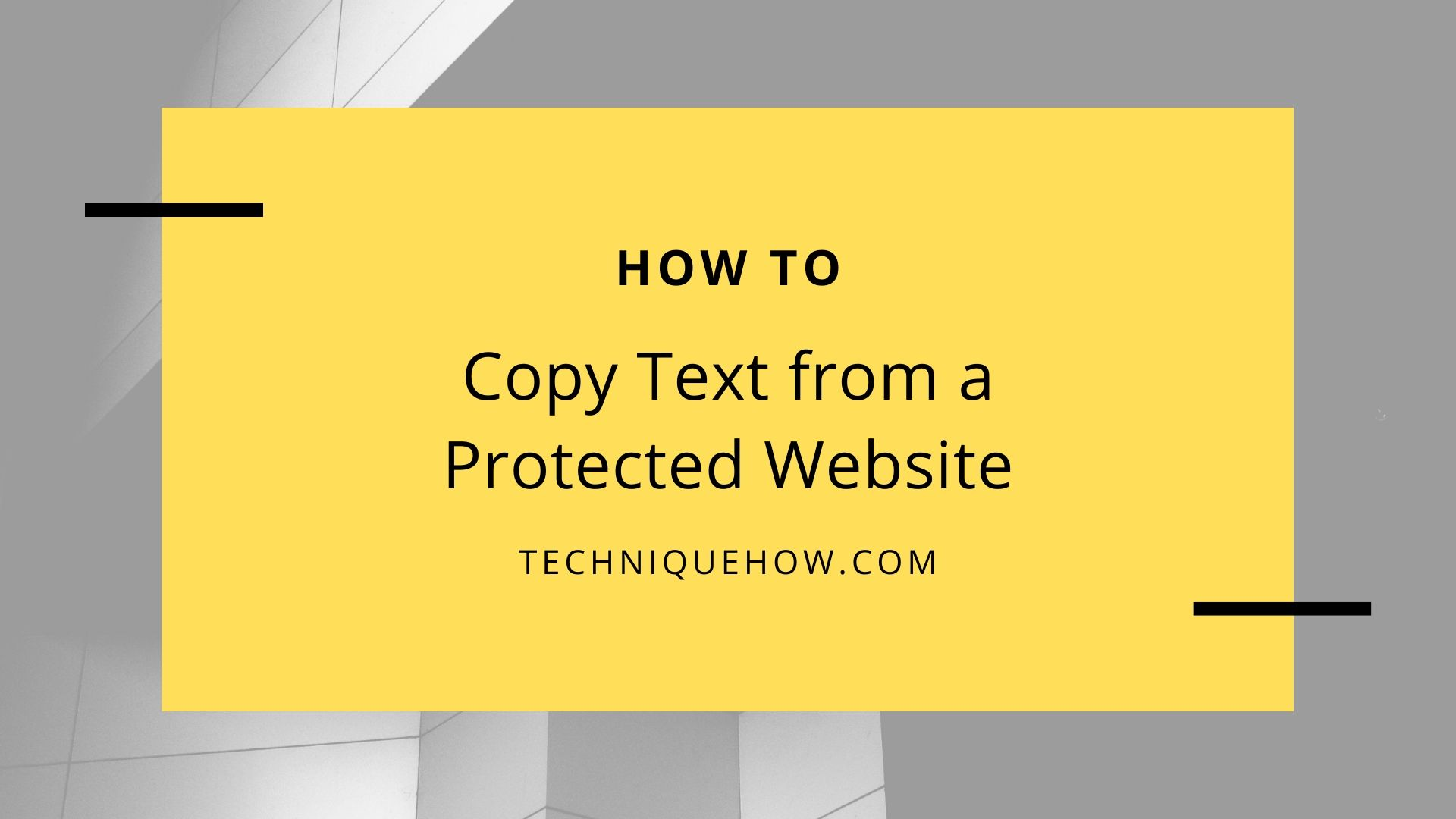 Copy Text from a Protected Website