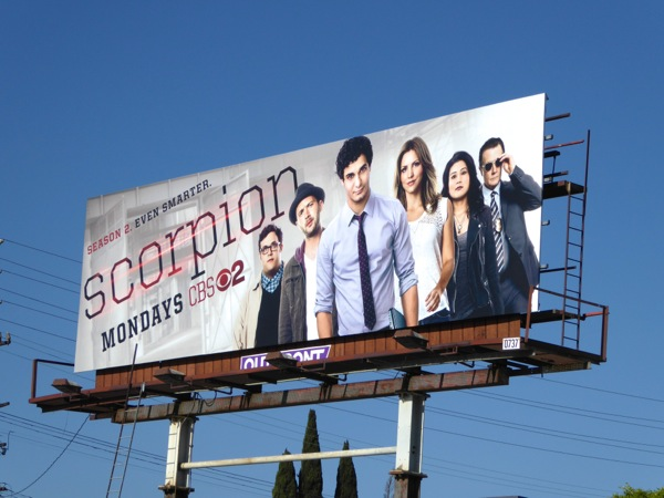 Scorpion season 2 CBS billboard