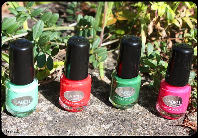 Vert Caipirinha, rouge Guarana, vert foncé carnaval et rose Daiquiri.
