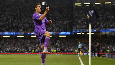 Cristiano Ronaldo opened the scoring for Real Madrid against Juventus in the Champions League final, also scoring Madrid's 500th goal in the competition