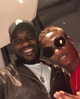 Wizkid and Jay jay okocha in London