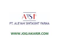 Lowongan Kerja Jogja di PT Aleyah Sintasint Farma Mei 2021