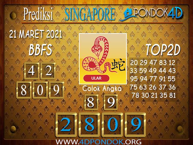 Prediksi Togel SINGAPORE PONDOK4D 21 MARET 2021
