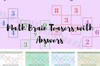 Math Brain Teasers with Answers