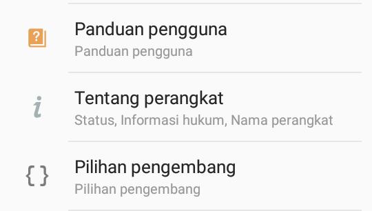 Cara membuka Opsi Pengembang di semua Android