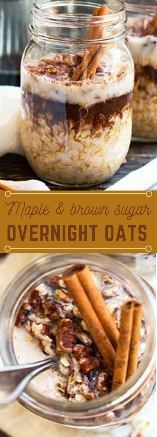 MAPLE BROWN SUGAR AND CINNAMON OVERNIGHT OATS #healthydiet #cinnamon #maple #keto #easy