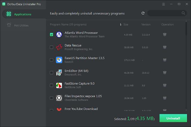 Screenshot DoYourData Uninstaller Pro 5.0 Full Version