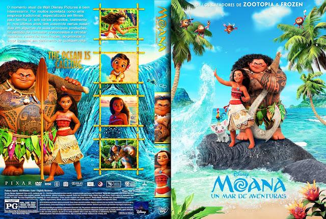 Capa DVD Moana Um Mar De Aventuras